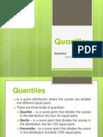 Statistics (Quantiles)