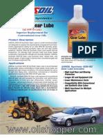 Synthetic Gear Lube SAE 80W-90 AMSOIL www.oilshopper.com