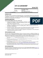 UT Dallas Syllabus for ob6321.501.10s taught by Joseph Picken (jcp016300)