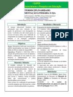 Poster Eiped - IF Goiano INTERDISCIPLINARIDADE FUNDAMENTAÇÃO LITERÁRIA X EJA.docx