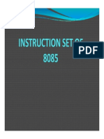 Instruction Set of 8085 Compatibility Mode