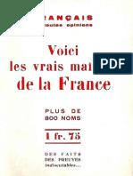 Voici Les Vrais Maitres de La France