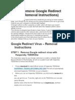 How to Remove Google Redirect Virus