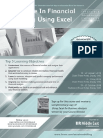 Cert in Fin Modelling Using Excel