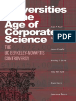 Alan P. Rudy, Dawn Coppin, Jason Konefal, Bradley T. Shaw, Toby Ten Eyck, Craig Harris, Lawrence Bus Universities in the Age of Corporate Science the UC Berkeley-Novartis Controversy 2007 (1)