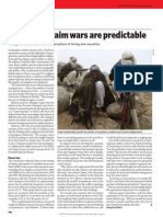 Modellers Claim Wars Are Predictable (Gilbert, 2009)