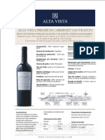 Ficha Técnica - Alta Vista Premium Cabernet Sauvignon