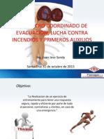 SIMULACRO COORDINADO DE EVACUACION, LUCHA CONTRA INCENDIOS.ppt
