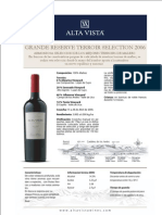 Ficha Técnica - Alta Vista Grande Terroir Selection 2006