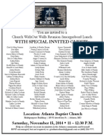 2014 Church WithOut Walls Reunion Invitation
