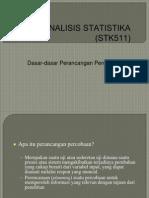 ANALISIS STATISTIKA (STK511) Rancob1.ppt