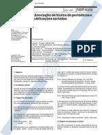 NBR 6032 (1989) - Abreviação de títulos de periódicos e publicações seriadas.pdf