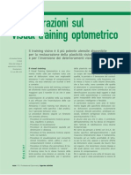 Considerazioni Sul Visual Training Optometrico
