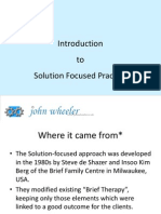 Solution Focussed Approach