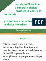 Presentación de la Representante Angela Robledo en el debate de control político sobre el sistema de salud y las EPS