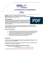 UT Dallas Syllabus for pa5318.0i1.09u taught by Wendy Hassett (wxh045000)