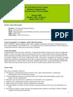 UT Dallas Syllabus for ba3311.5u3.09u taught by   (jmw087000)