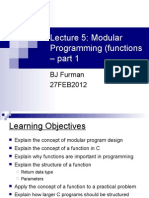 Lecture 5 Functions Pt1