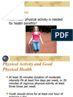 Benefits of Physical Activity - 2010