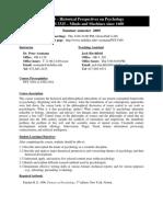 UT Dallas Syllabus for psy3360.5u1.09u taught by Peter Assmann (assmann)