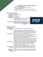UT Dallas Syllabus for biol3350.0u1.09u taught by Ilya Sapozhnikov (isapoz)