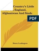 A Great Country's Little Wars or England Affghanistan and Sinde (1844 ) by Henry Lushingtons