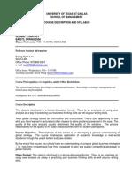 UT Dallas Syllabus for ba4373.501.09s taught by Seunghyun Lee (sxl029100)