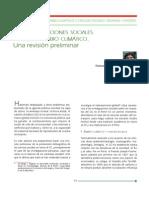 Las investigaciones sociales sobre el cambio climático. Una revisión preliminar
