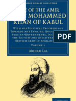Life of Amir Dost Mohammed Khan Vol 1 (1846) By Mohan Lal