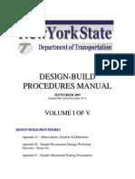 2011 Design Build Manual Volume1 of 5