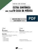 20140927 | Programa de Sala Orquestra Sinfónica do Porto Casa da Música