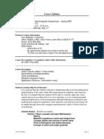 UT Dallas Syllabus for ee4301.501.09s taught by Matthew Goeckner (goeckner)