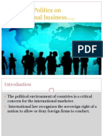 Effects of Politics on Internationalbusiness