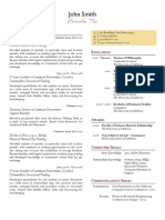 Two Column One Page Cv Sample1