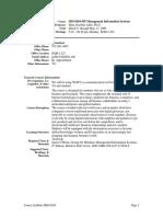 UT Dallas Syllabus for mis6204.595.09s taught by Hans-joachim Adler (hxa026000)