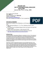 UT Dallas Syllabus for ob6301.501.09s taught by Padmakumar Nair (pxn031000)