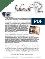 July September 2014 Schrock Prayer Letter