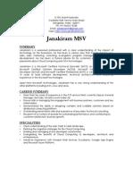 Janakiram Resume