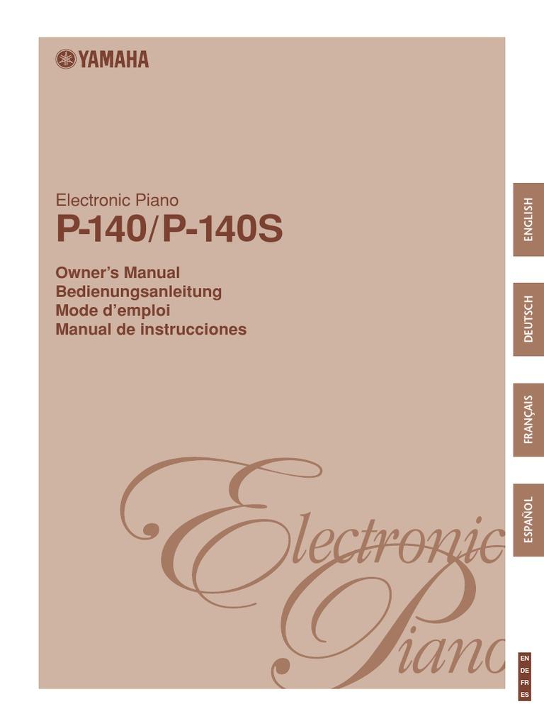 Yamaha p-140 + p-140s service manual & repair guide download manu.