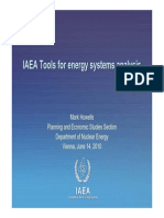 IAEA Tools for Externalities ( Presentation)