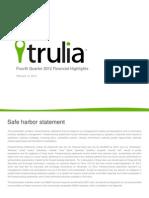 Trulia Q4 2012 Investor Deck