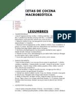 Recetas Cocina Macrobiotica | Modulo 2 Cocina Macrobiotica