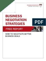 Business Negotiations Strategies