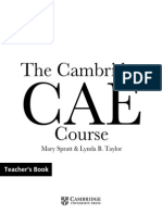 CAE course Teacher's book