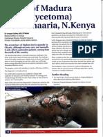 Community dermatology Journal - A case of Madura foot (Mycetoma) from Chaaria - Kenya