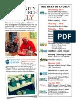 October 15 2014 Newsletter