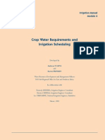 Crop Water requirements and Irrigation schedulling