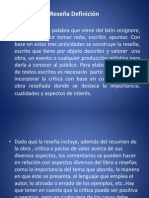 Diapositivas sobre La Reseña.ppt