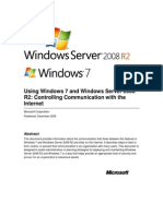 Using Windows 7 and Windows Server 2008 R2 - Controlling Communication With the Internet