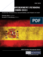 Spanish Government Funding for Ngos 2009 2011 Assessing Transparency Accountability and Impact on Israel